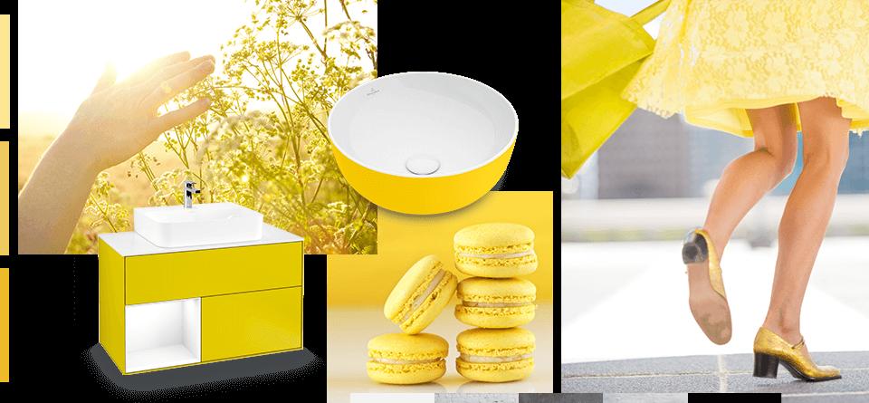 Lassen Sie Ihr Bad In Sommerlichem Gelb Erstrahlen. Badkeramik In Gelb  Wirkt Warm Und Einladend Und Lässt Das Bad Aufgrund Ihrer Schwerelosen  Anmutung ...