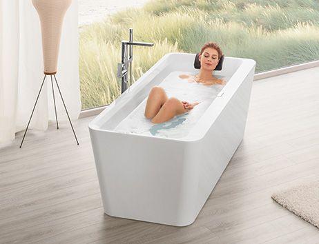 Freistehende badewanne stahl