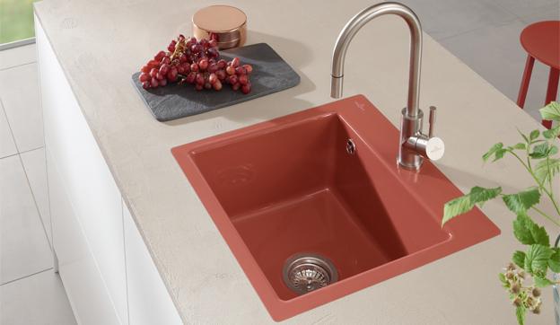 Spülbecken keramik villeroy & boch  Keramikspülen für mehr Farbvielfalt in der Küchengestaltung