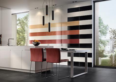Akzente Mit Farbigen Fliesen Mosaik Akzente Badezimmer
