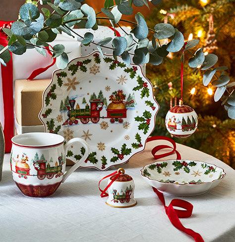 weihnachtliche dekoration von villeroy boch. Black Bedroom Furniture Sets. Home Design Ideas