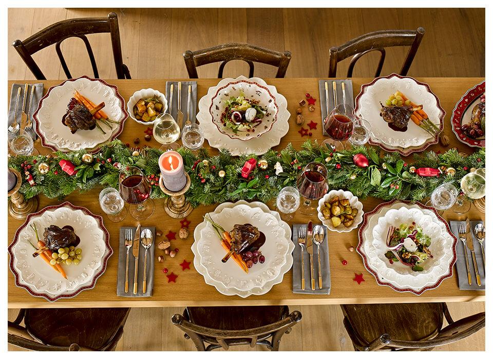 Moderne und traditionelle Weihnachtstische von Villeroy & Boch