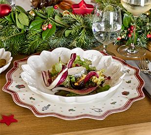 Moderne und traditionelle weihnachtstische von villeroy boch for Weihnachtsideen dekoration