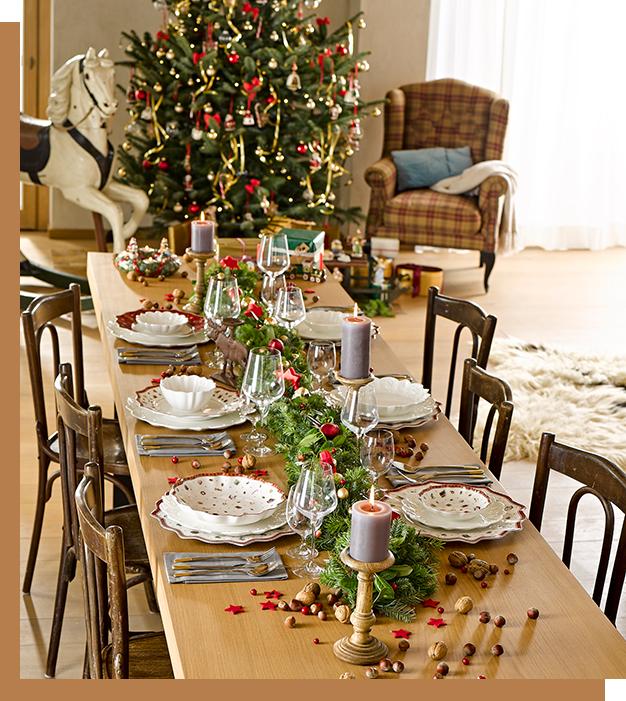 moderne und traditionelle weihnachtstische von villeroy boch. Black Bedroom Furniture Sets. Home Design Ideas