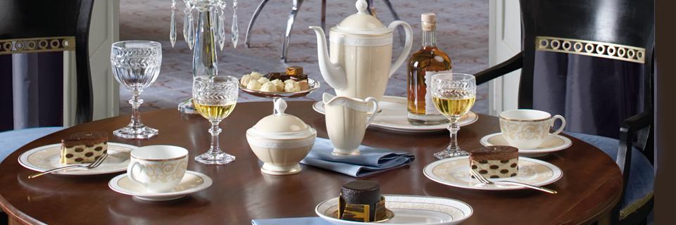 ivoire elfenbein und dezentes gold villeroy boch. Black Bedroom Furniture Sets. Home Design Ideas