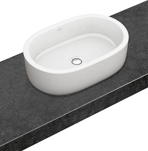 architectura aufsatzwaschtisch oval 412660 villeroy boch. Black Bedroom Furniture Sets. Home Design Ideas