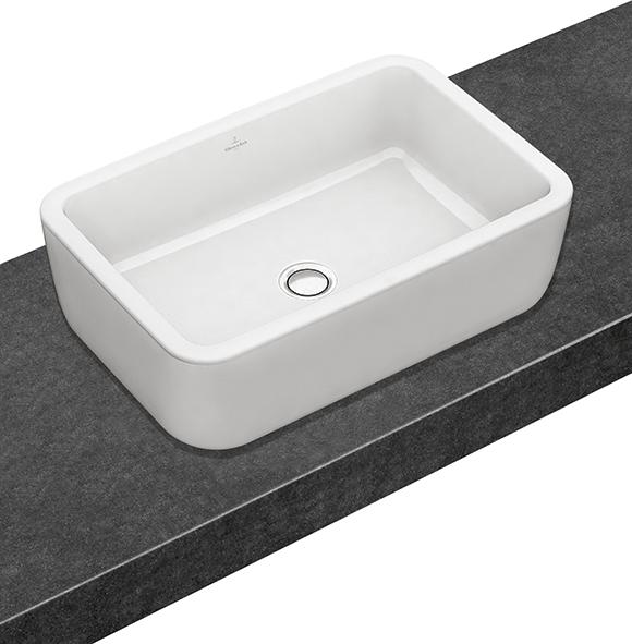 architectura aufsatzwaschtisch eckig 412760 villeroy boch. Black Bedroom Furniture Sets. Home Design Ideas