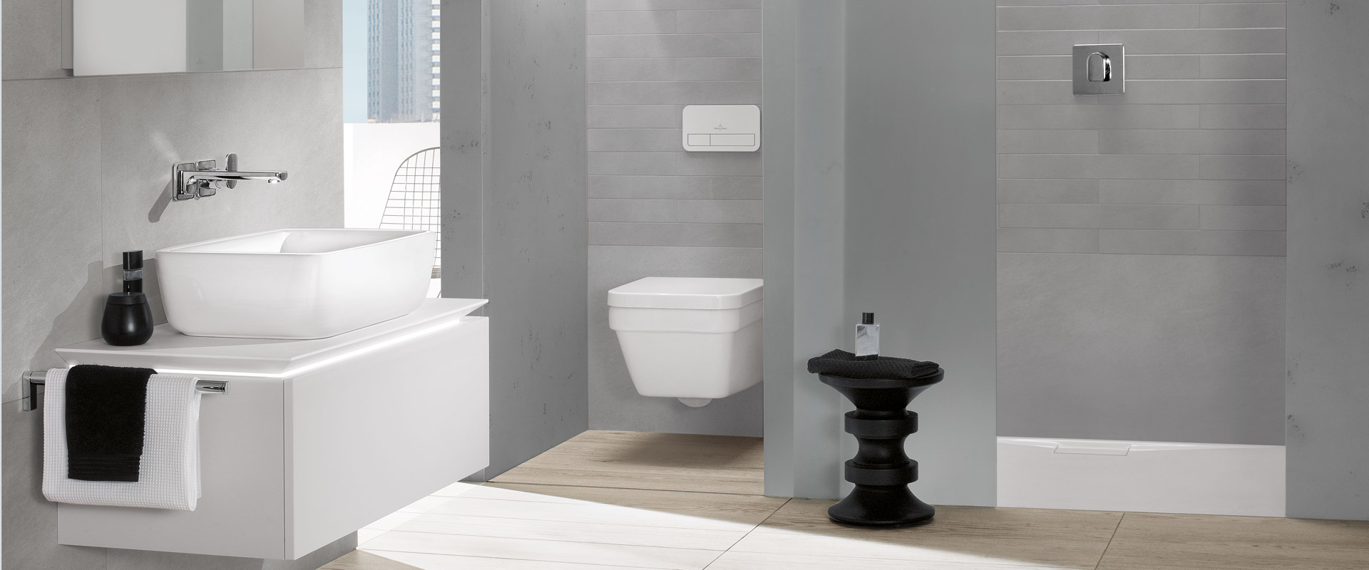 Kollektion architectura von villeroy boch zeitloses for Bad und wc design